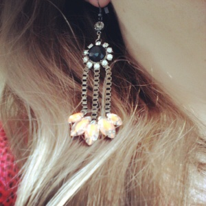 Fluro earrings..